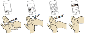 Imaginary Phone: Walkthrough of making a call with the Imaginary Phone