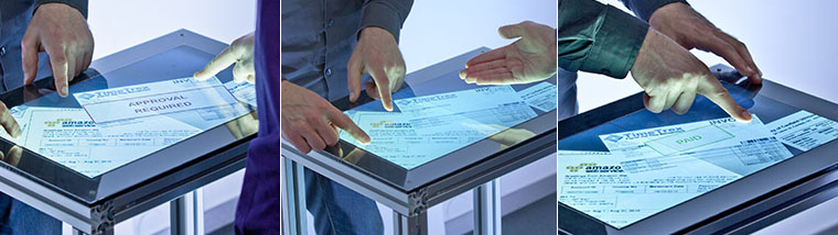 Fiberio: Secure authentication on multitouch screens in collaborative settings